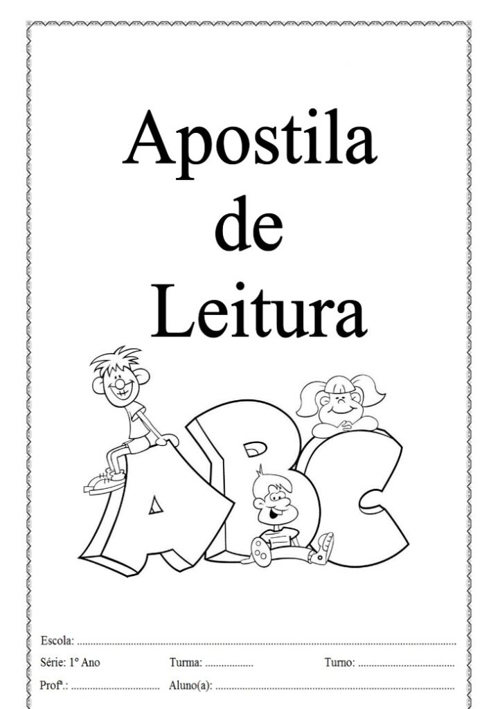 APOSTILA DE LEITURA PARA A EDUCAÇÃO INFANTIL E ENSINO FUNDAMENTAL