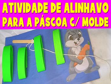 ATIVIDADE DE ALINHAVO PARA A PASCOA