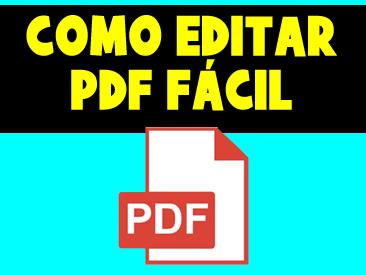 COMO EDITAR PDF FACIL