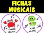 Fichas para Caixa Musical + Músicas Completas