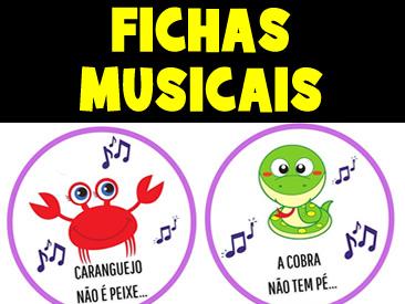 FICHAS MUSICAIS PARA CAIXINHAS MUSICAIS