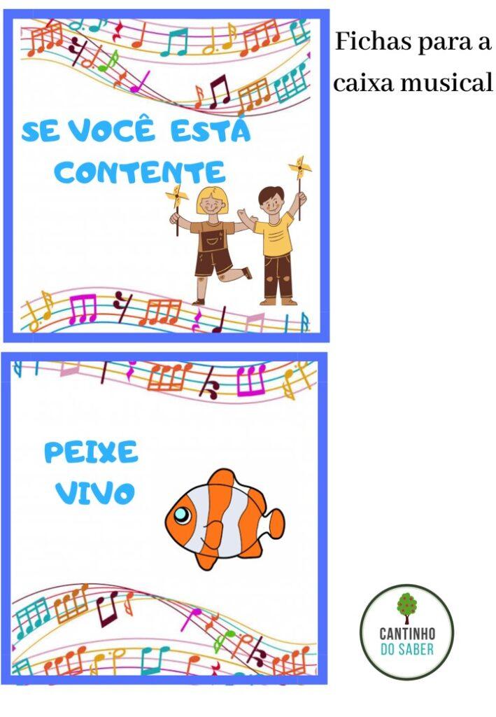 FICHAS PARA CAIXA MUSICAL
