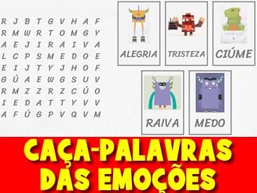 CAÇA-PALAVRAS DAS EMOÇÕES