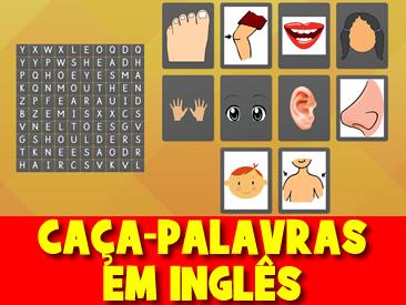CAÇA-PALAVRAS DAS PARTES DO CORPO EM INGLÊS