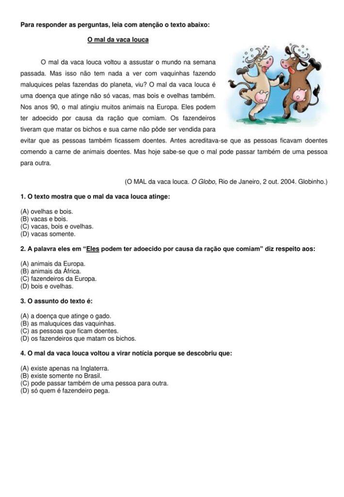 APOSTILA DE INTERPRETAÇÃO DE TEXTO 4 E 5 ANO