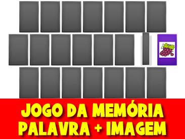 JOGO DA MEMORIA PALAVRA + IMAGEM