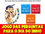 Jogo do Dia do Índio – Responda as perguntas