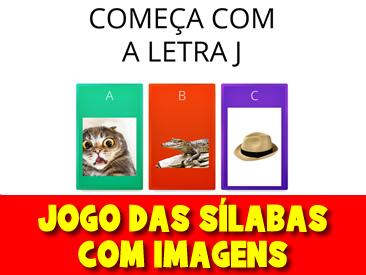 JOGO DAS SÍLABAS COM IMAGENS