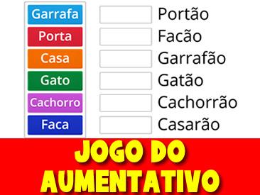 JOGO DO AUMENTATIVO