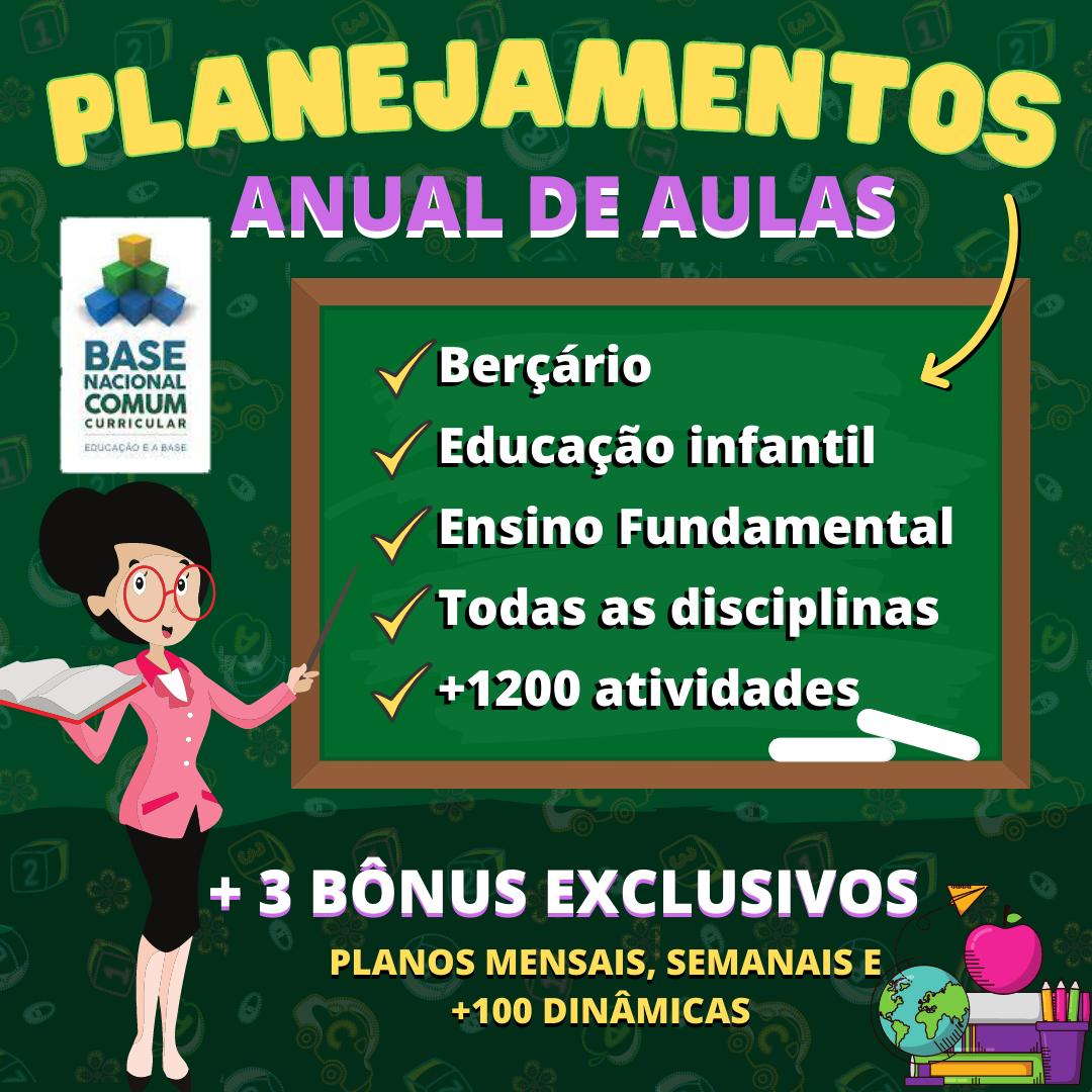 PLANEJAMENTOS DE AULA NOVO