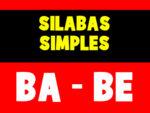 Apostila com sílabas simples de alfabetização