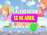 Calendário dos dias 12/04 até 17/04 para enviar no whatsapp nas aulas online