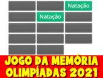 Jogo da memória com os esportes das olimpíadas 2021