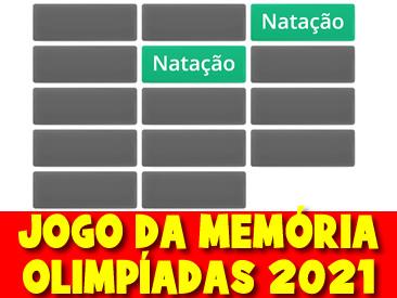 JOGO DA MEMÓRIA DAS OLIMPIADAS 2021