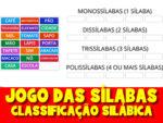 Jogo das sílabas com imagens – Classificação Silábica