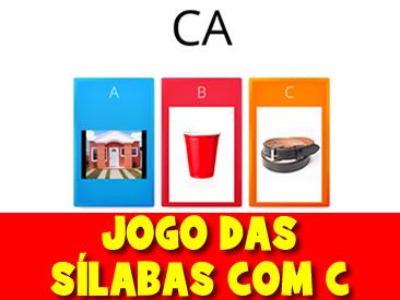 JOGO DAS SÍLABAS COM C