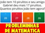 Jogo de matemática com cálculos matemáticos e probleminhas