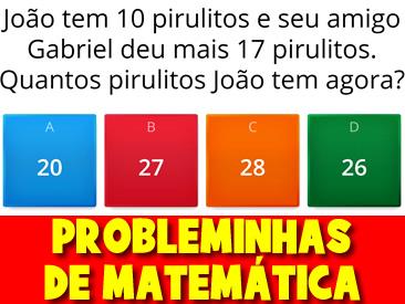 JOGO DE PROBLEMINHAS DE MATEMÁTICA