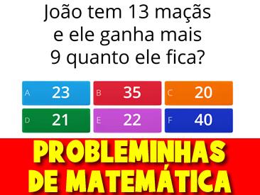 PROBLEMINHAS DE MATEMÁTICA