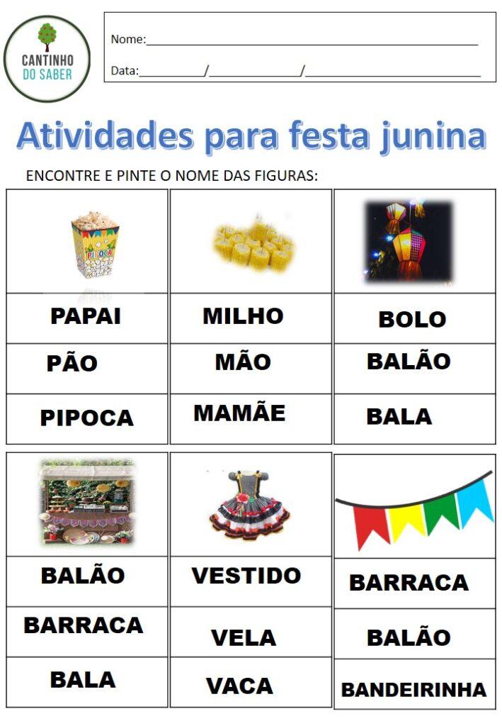 40 atividades para festa junina para imprimir