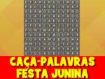 Caça-palavras com o tema de festa junina