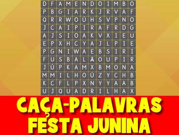 CAÇA-PALAVRAS DA FESTA JUNINA