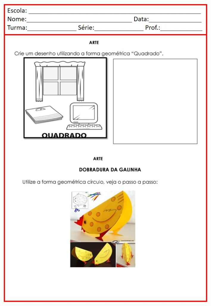 CADERNO DE ATIVIDADES PARA ARTES 2 ANO
