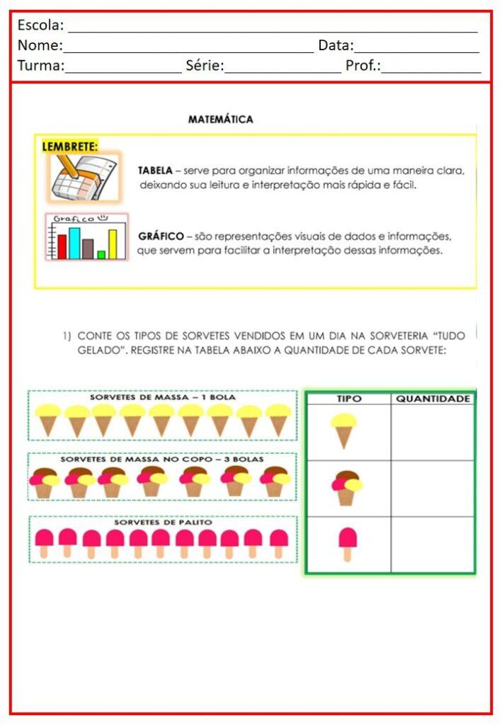 CADERNO DE ATIVIDADES PARA MATEMÁTICA 2 ANO