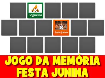 JOGO DA MEMÓRIA FESTA JUNINA