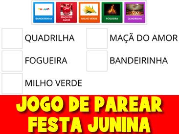 JOGO DE PAREAR DA FESTA JUNINA