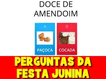 PERGUNTAS DA FESTA JUNINA