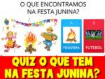 Jogo de perguntas com o tema de festa junina