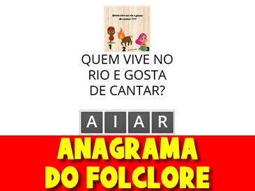 ANAGRAMA DO FOLCLORE