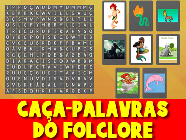 CAÇA-PALAVRAS DO FOLCLORE
