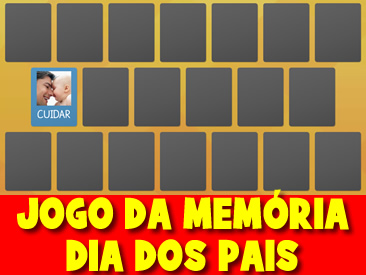 JOGO DA MEMÓRIA DIA DOS PAIS