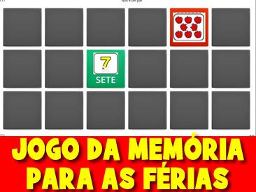 JOGO DA MEMÓRIA PARA AS FÉRIAS