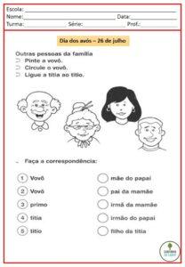 atividades para o dia dos avos