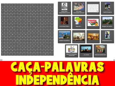 CAÇA-PALAVRAS DA INDEPENDÊNCIA DO BRASIL