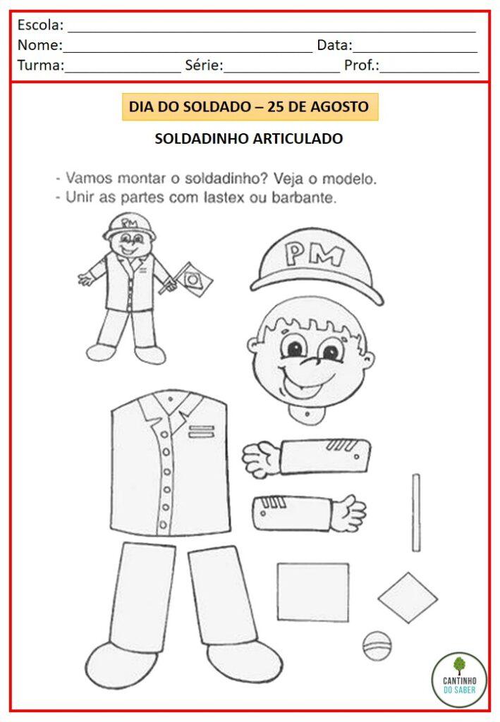 ATIVIDADES PARA O DIA DO SOLDADO