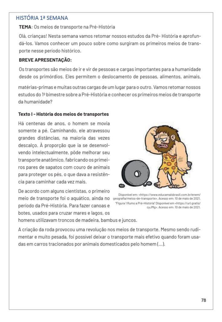 APOSTILA ATIVIDADES DO PET 5 ANO HISTORIA