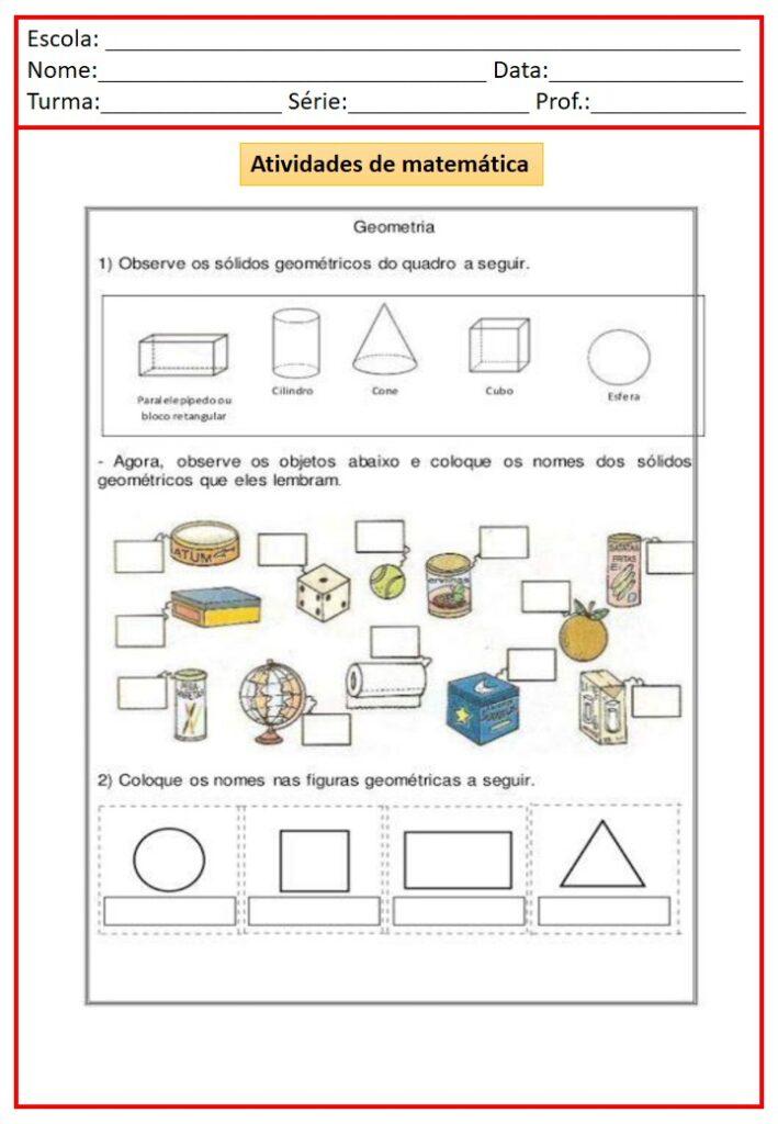 APOSTILA DE ATIVIDADES DE REVISÃO 3 ANO - TODAS MATÉRIAS