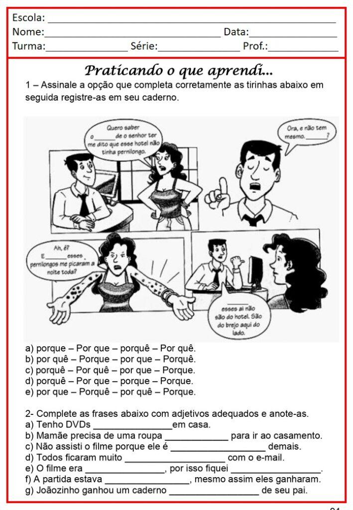 CADERNO DE ATIVIDADES 5 ANO TODAS DISCIPLINAS