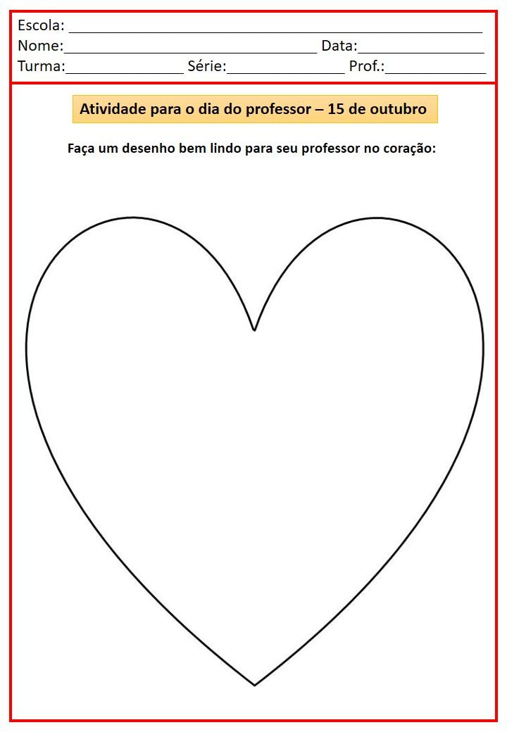 ATIVIDADES PARA O DIA DO PROFESSOR